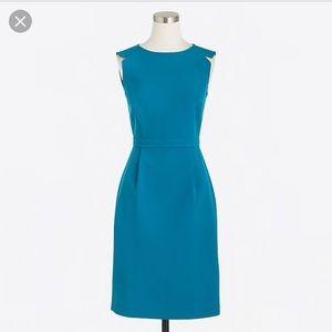 j Crew powdered blue sheath Dress